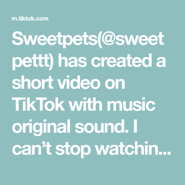 Sweetpets Sweetpettt Has Created A Short Video On Tiktok With Music Original Sound I Can T Stop Watching Foryou The Originals Music Halloween Looks