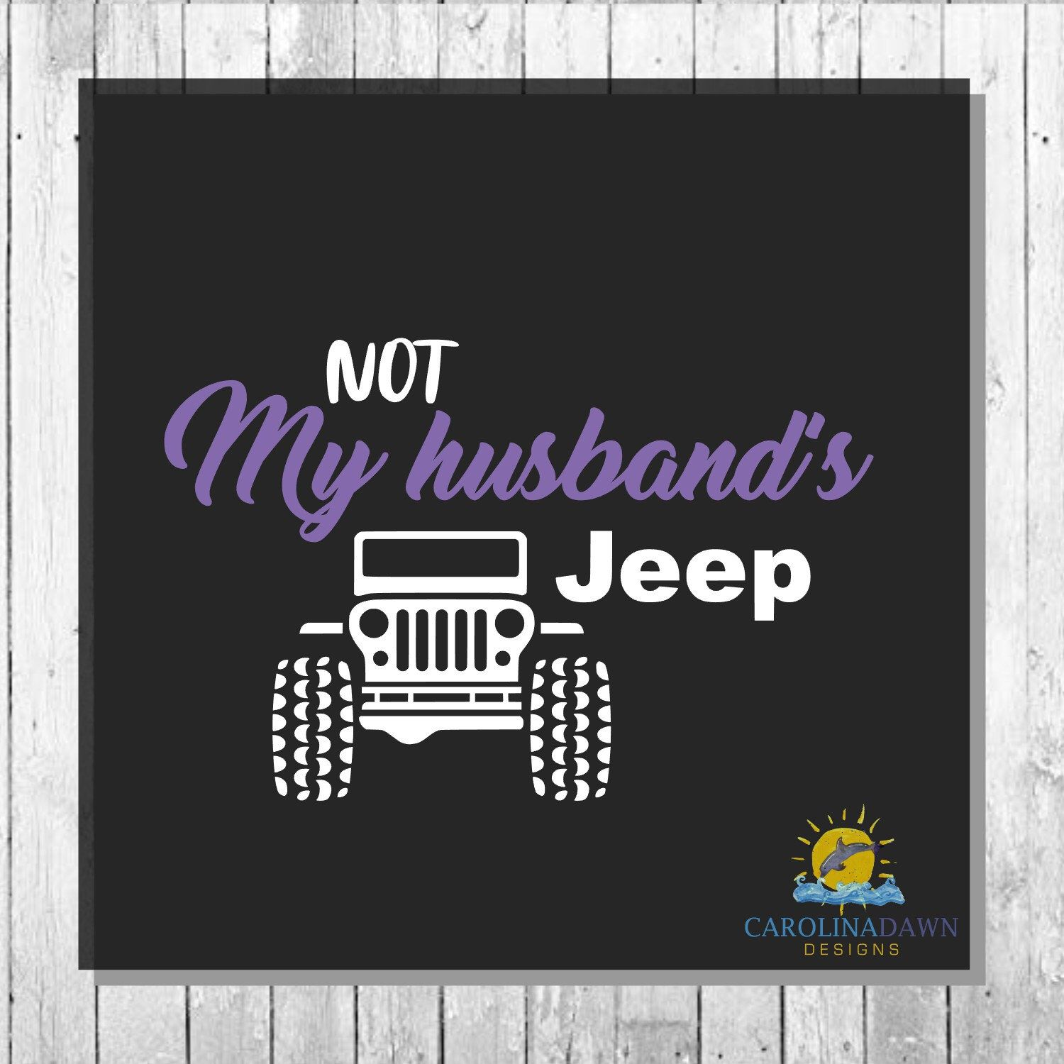 Excited to share this item from my etsy shop not my husbands jeep jeep decal spouse decal slot funny jeep jeep family