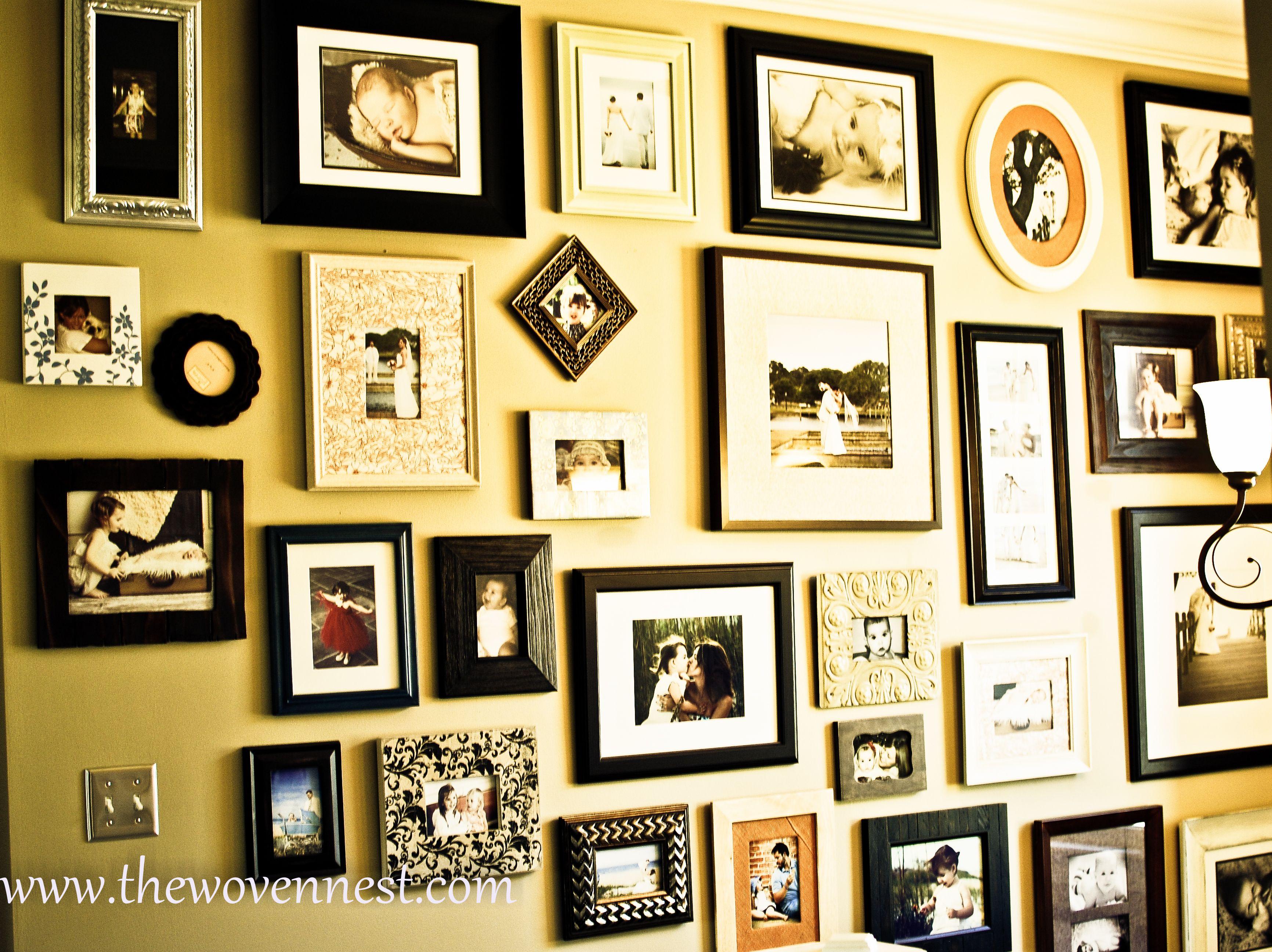 photo wall | Photo walls | Pinterest | Photo wall, Walls and Wall ideas