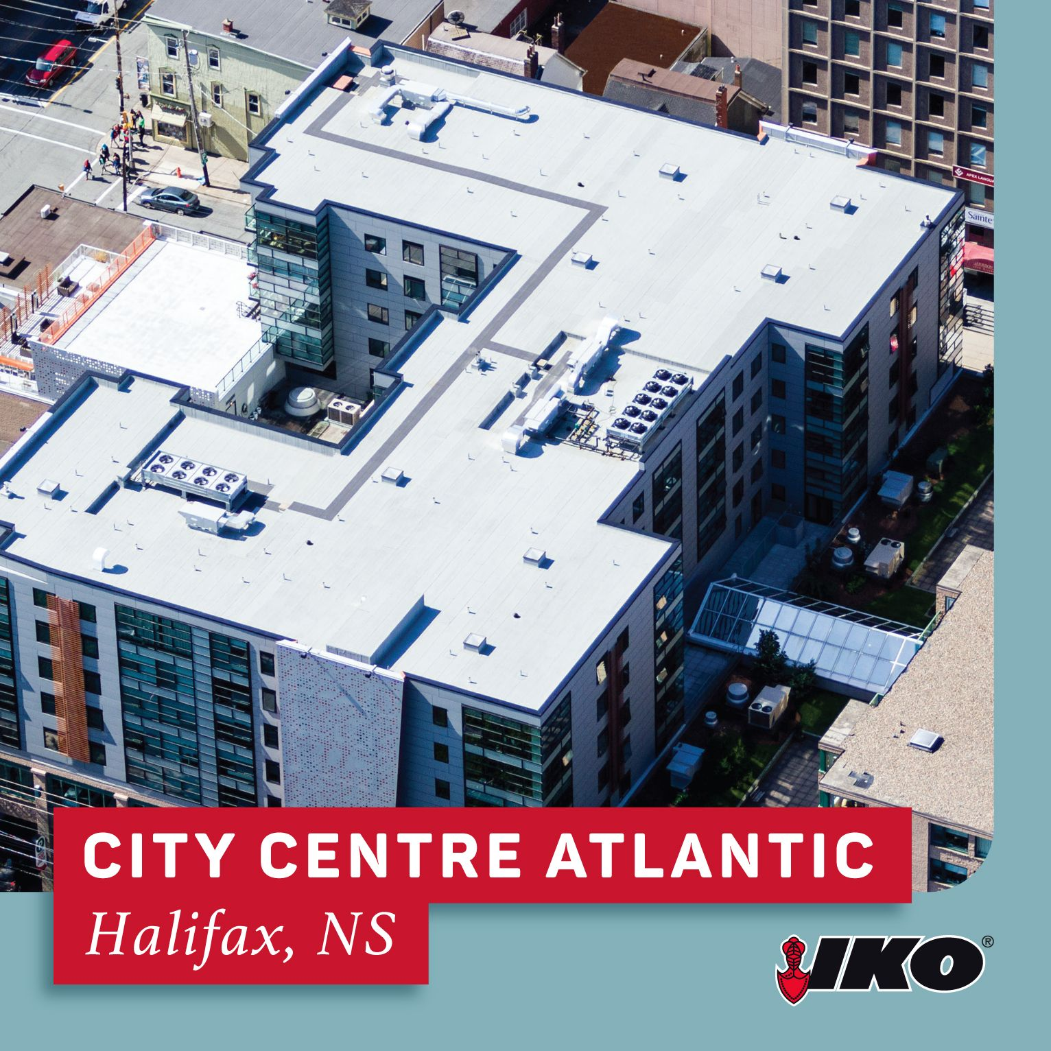 City Centre Atlantic Iko Commercial Roofing Project Profile Commercial Roofing Roofing Systems Roofing