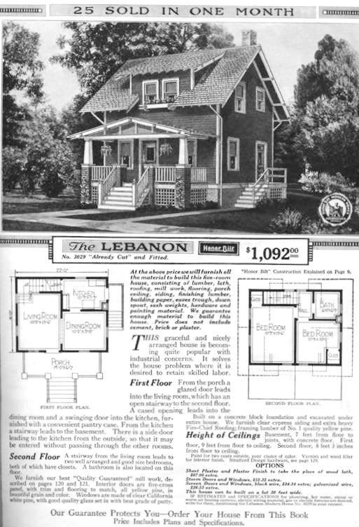 Sears Mail Order Kit Houses Prefab Factory Built