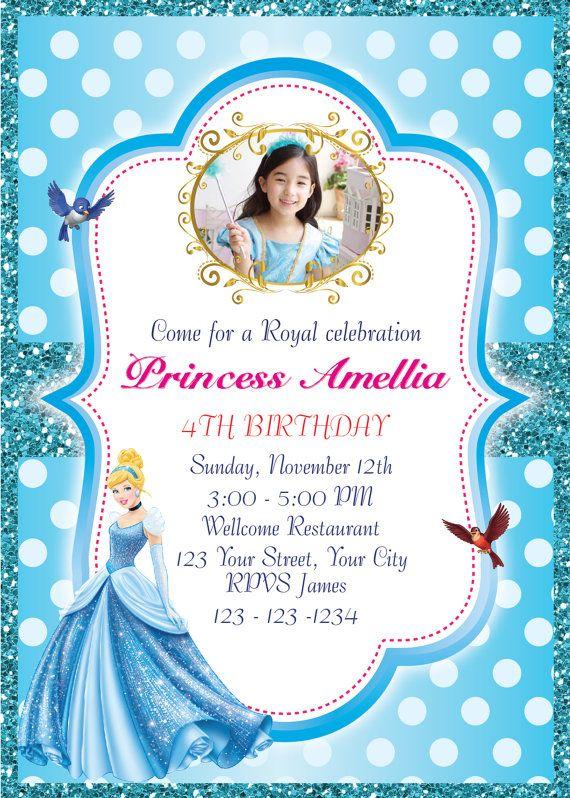 princess cinderella invitation birthday