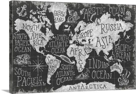 Mythical Map I Map Wall Mural Wall Murals Amanti Art