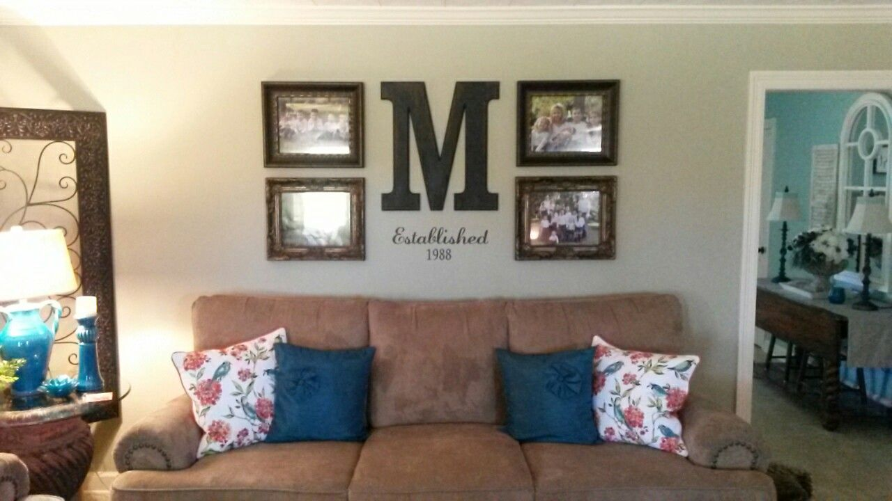 Wall grouping with decor from Hobby Lobby  | Wall Groupings | Wall