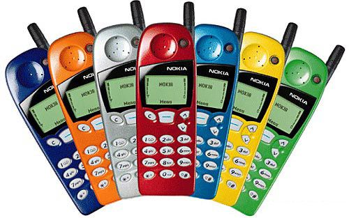 49bf5b6f1344c2 Nokia...first cell phone. Could change the face plate for different colors  or designs.