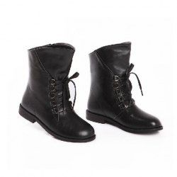 $19.74 Laconic Casual Women's Combat Boots With Solid Color and Lace-Up Design