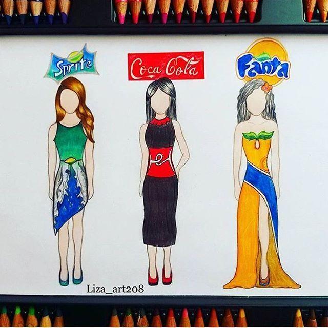 Sprite, Coke, Fanta! Favourite?! By: @liza_art208 _ Follow us for more! @just_arts_help