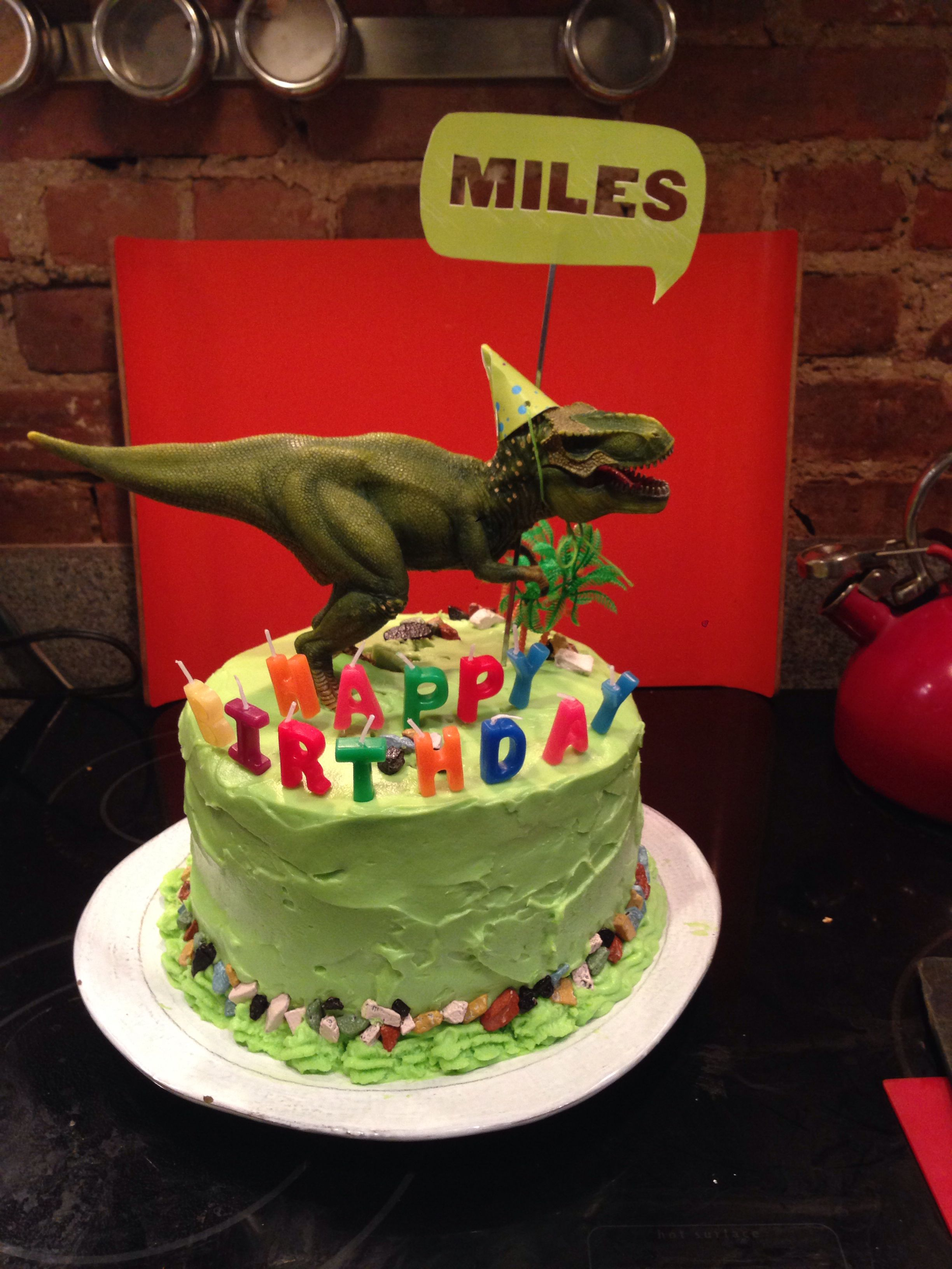 Dinosaur birthday cake Inspiration from Pinterest Thanks dino