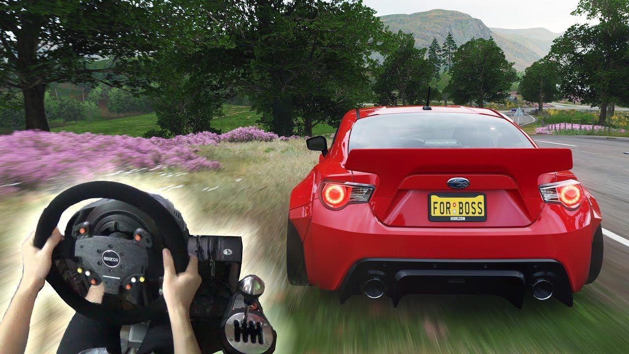 Forza horizon 4 subaru brz 2013 w steering wheel gameplay