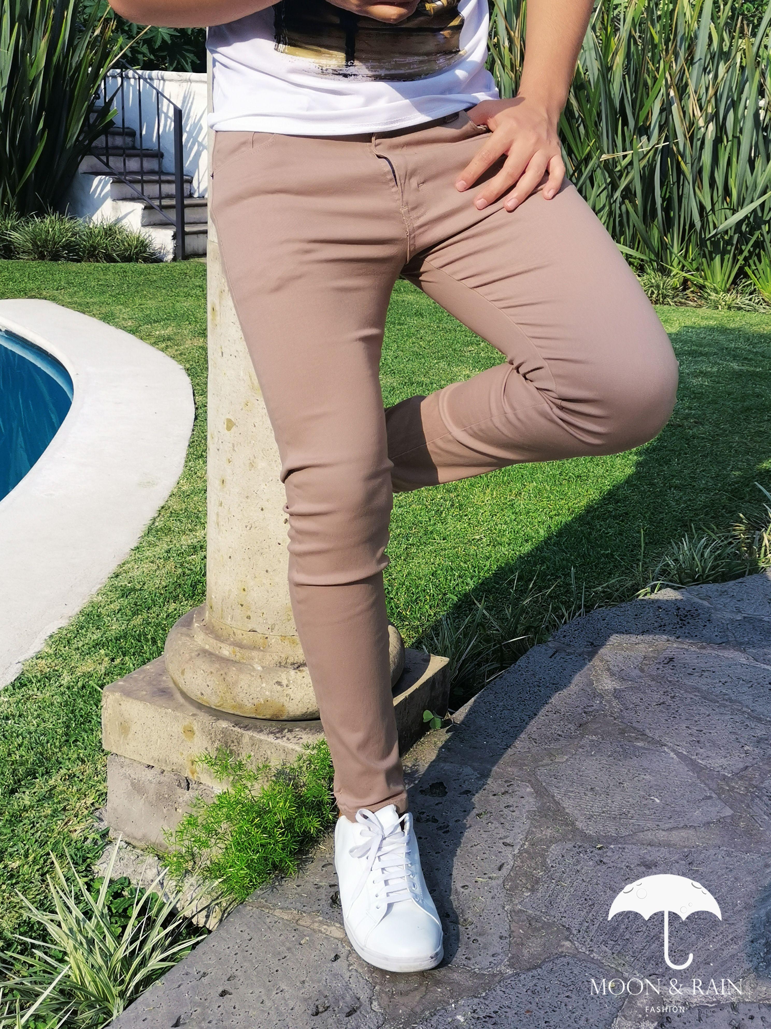 Pantalon Gabardina Beige Tight Jeans Men Cool Outfits Fashion
