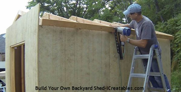 How To Build A Shed Roof Nailing Eve Fascia On Building A Shed Roof Building A Shed Framing Construction