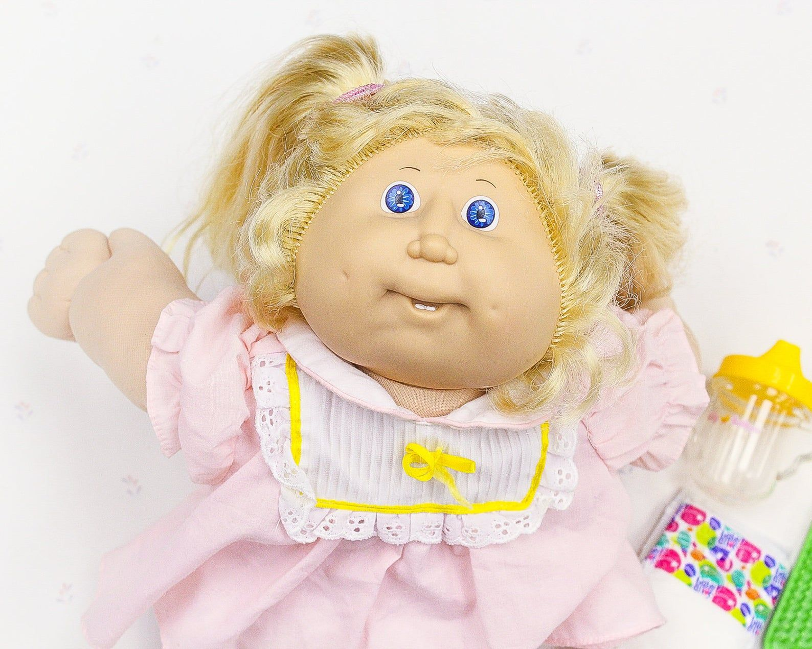 1980s Cabbage Patch Doll Cornsilk Hair Girl Doll Cabbage Patch Kids Doll For Girl 80s Toys For Kid Vintage Toy Doll For Kid 80s Doll Cabbage Patch Kids Dolls Cabbage Patch