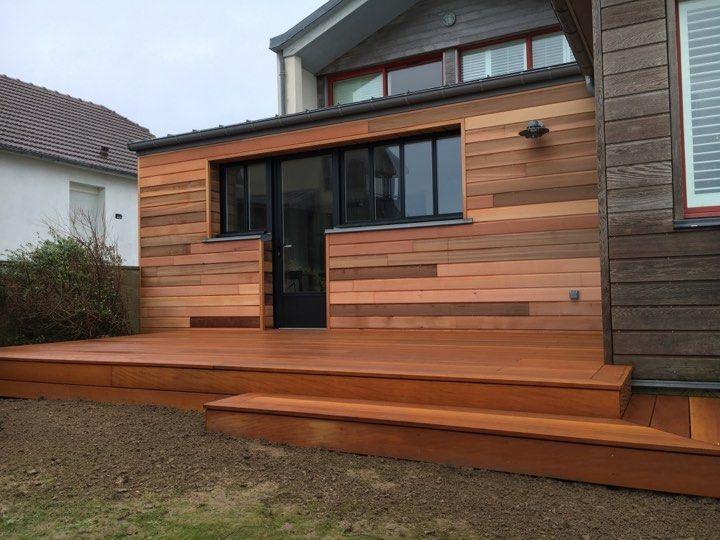Extension en bois d 39 une maison normande par les nouveaux agenceurs surtainville 50 - Extension maison normande ...