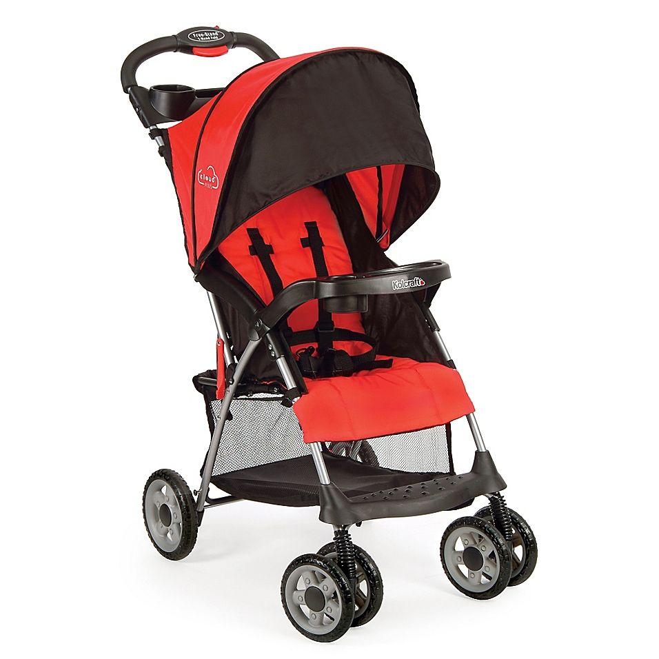 Kolcraft Cloud Plus Stroller In Red/black Best