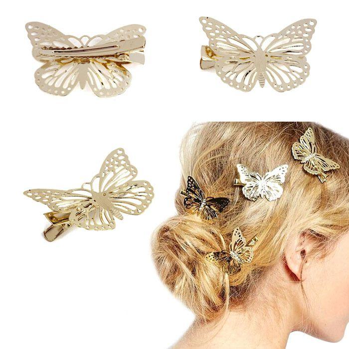 d05500b784b9 Accesorios dorados para el pelo en forma de mariposa. detalle precioso y  original para llevar en el pelo. Ideal en cermonia