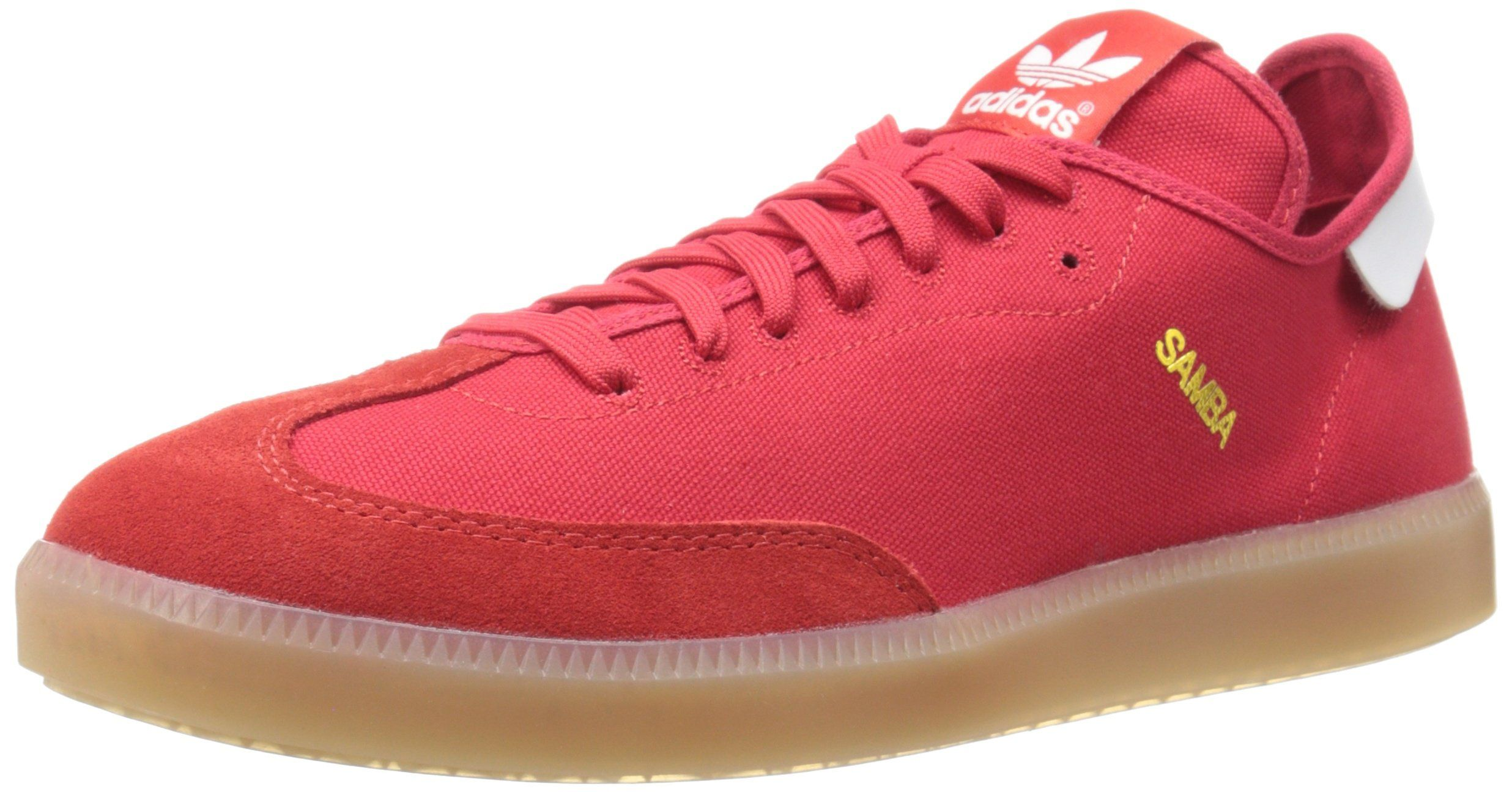 Buy Good Mens Casual Shoes - Adidas Originals Samba Mc Scarlet/White/Gold Metallic
