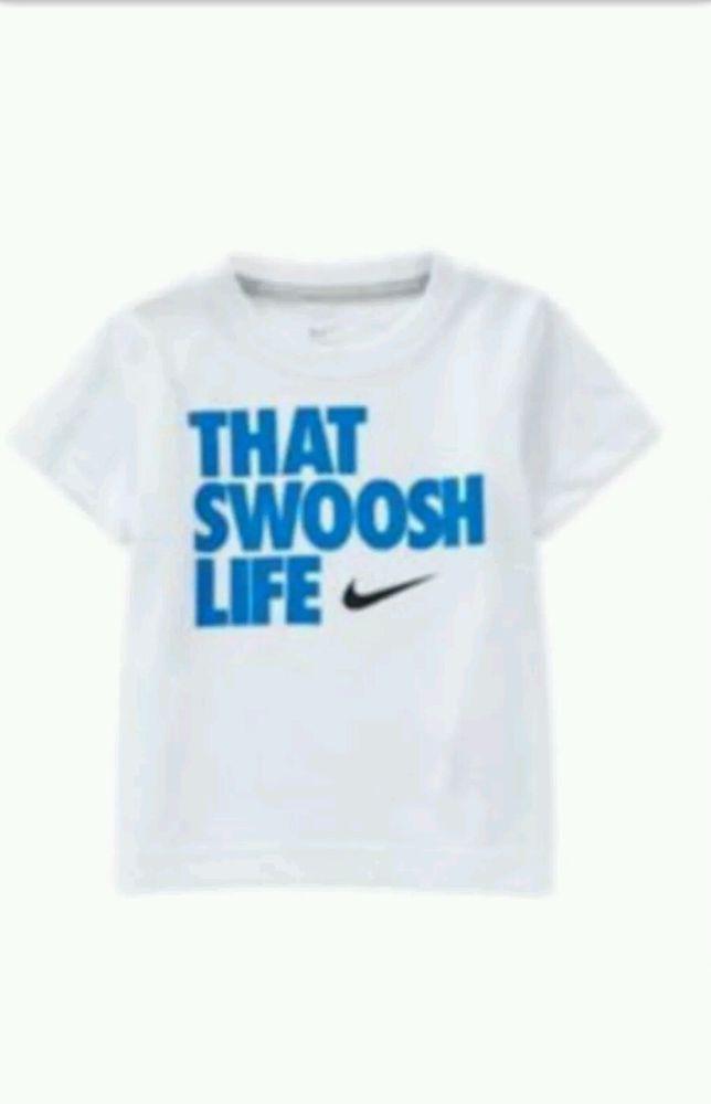 29baf67b Nike Boys Blue & White (That Swoosh Life) T-Shirt, Shirt Size 7 NWT #Nike  #Everyday