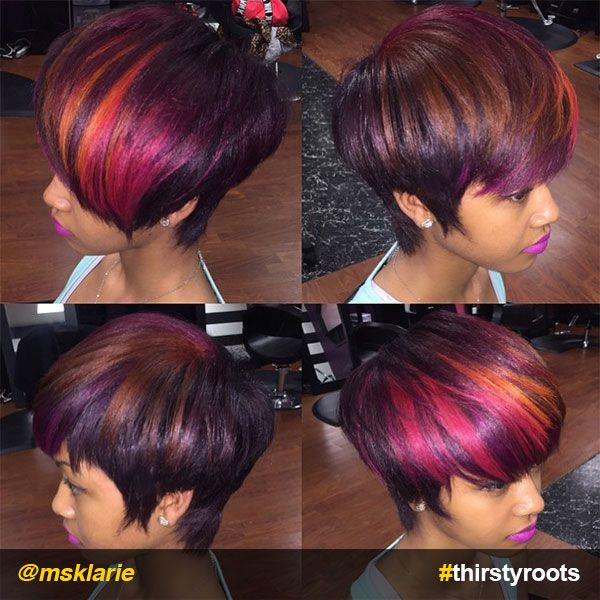 Fierce Red Ombre Hair Color On Black Hair Red Ombre Hair Ombre
