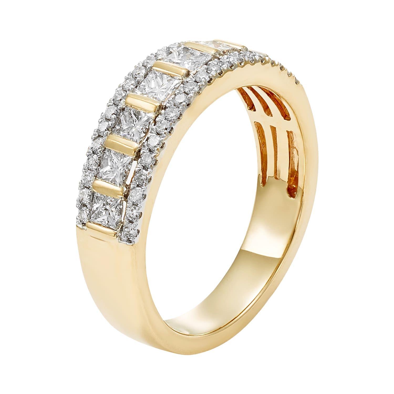14k gold 1 carat tw igl certified diamond wedding ring