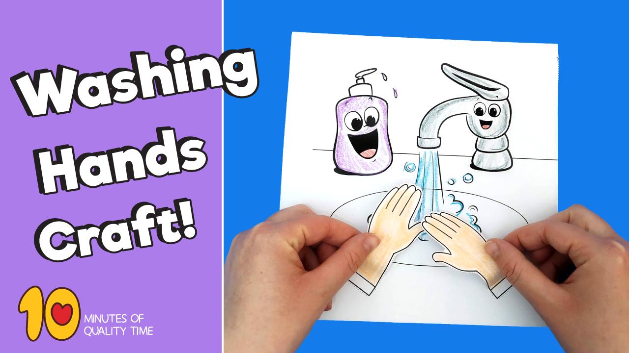 Washing Hands Craft Video Germs Preschool Activities Hygiene Activities Hand Crafts For Kids [ 720 x 1280 Pixel ]
