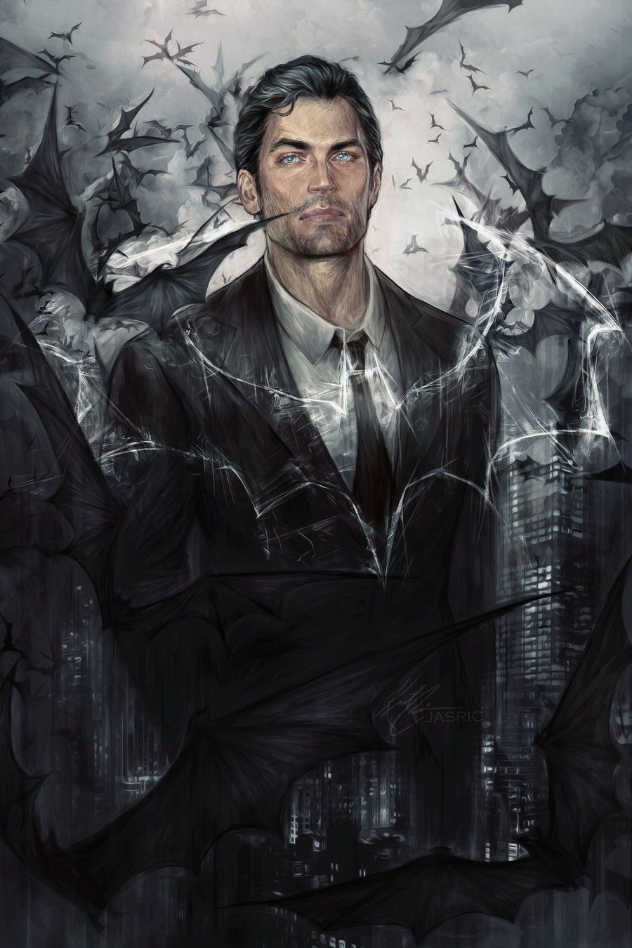 Bruce Wayne by jasric on DeviantArt this may have just become my favorite Bruce Wayne fanart ever.
