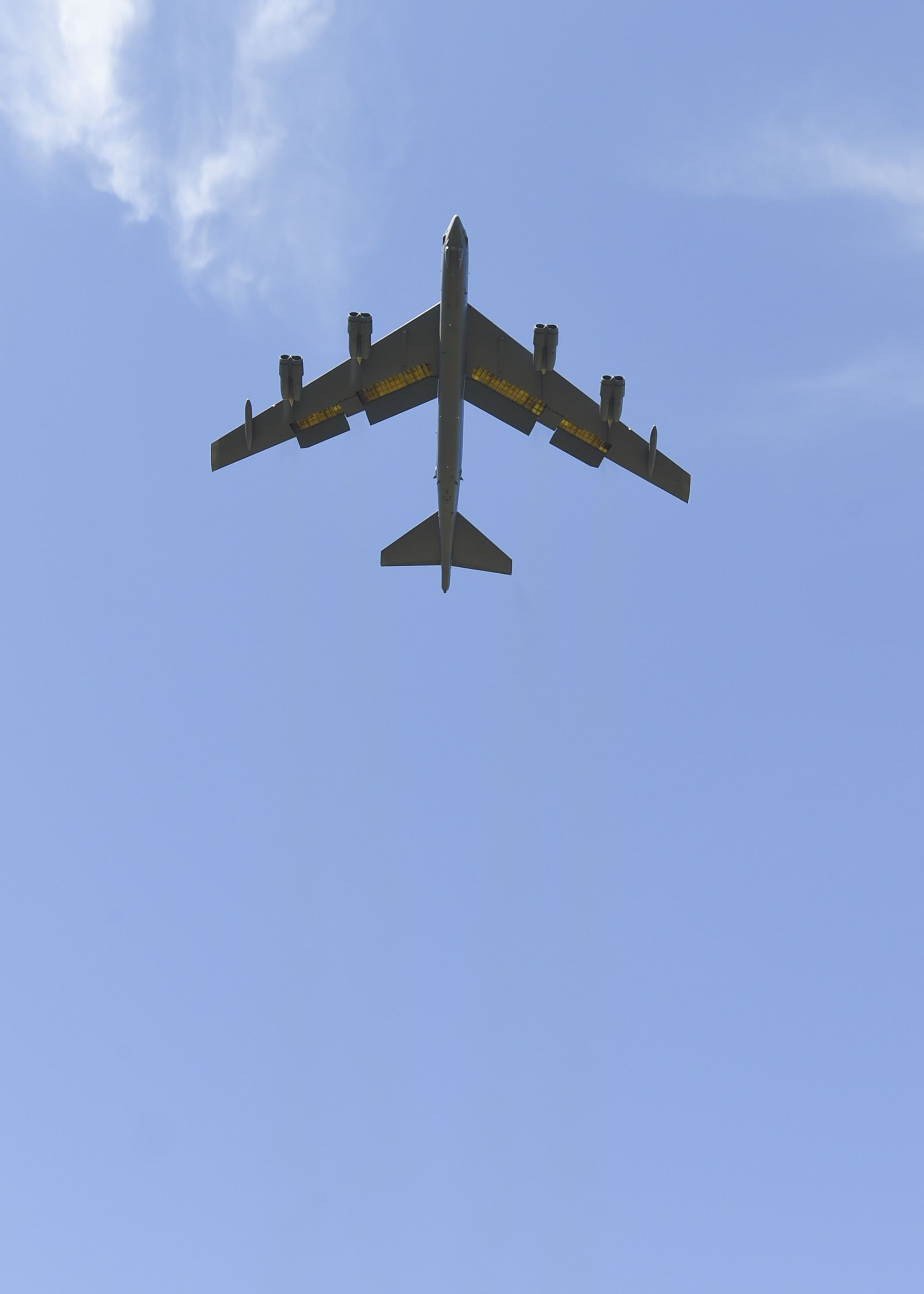 """A B52H Stratofortress, this one nicknamed """"Ghost Rider"""