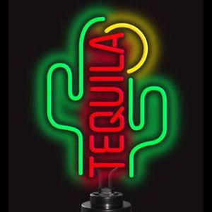 Desert Tequila Cactus and Sun Neon bar sign art lamp wall or table top light