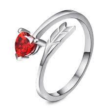 Resultado de imagen para anillos de plata en forma de corazon