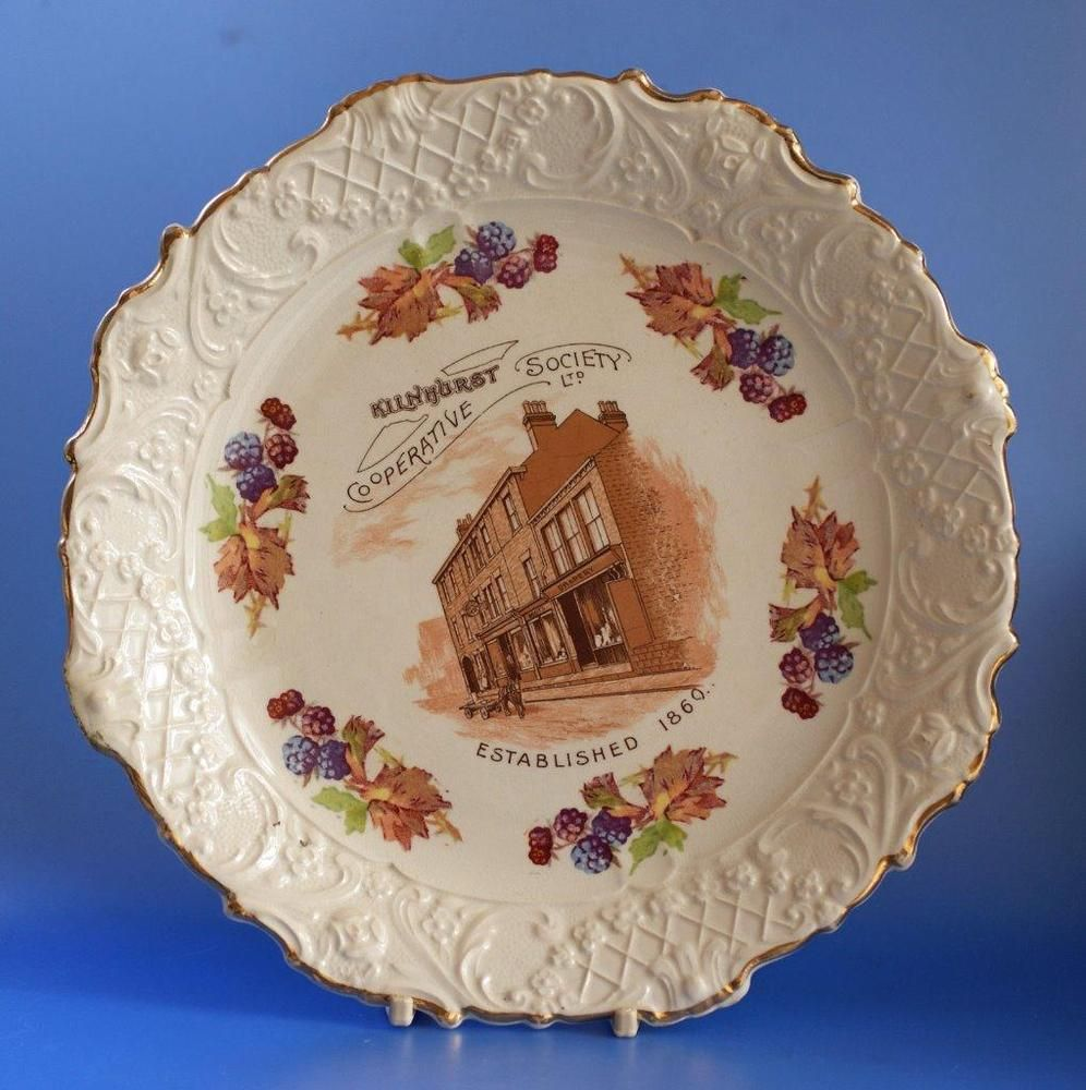 Co Op Cooperative Wholesale Society Cws Advertising Plate Kilnhurst Plates Decorative Pottery Christmas Plates