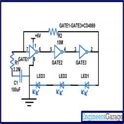 cd4049 based led torch circuit diagram electronic circuits rh pinterest com rechargeable led flashlight circuit diagram Circuit Diagram LED Torch