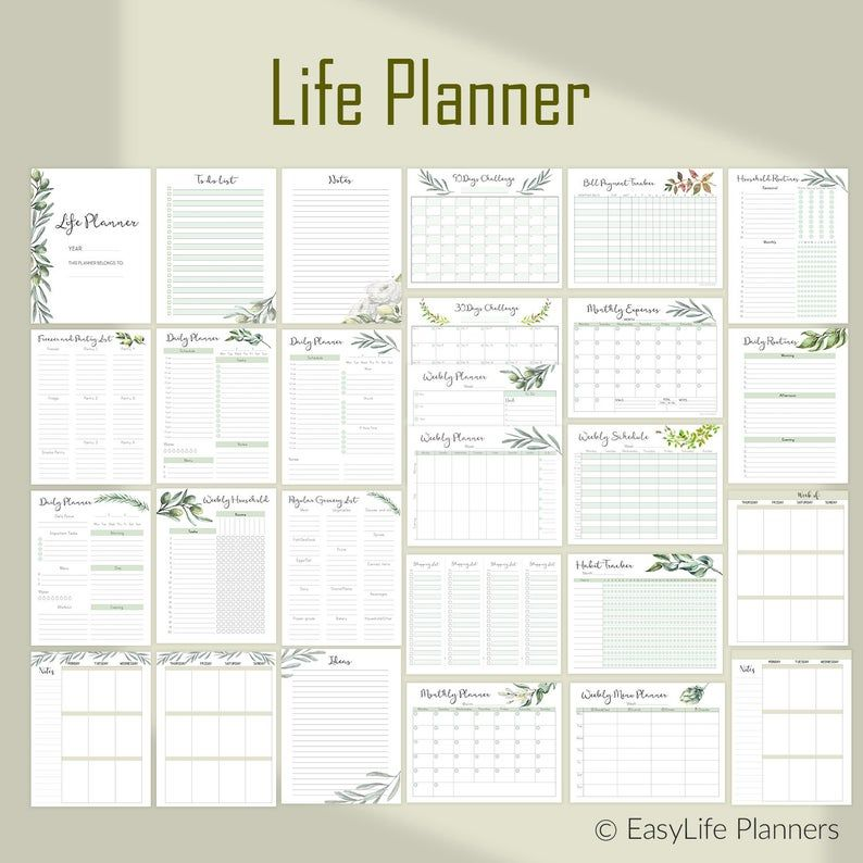 Life Binder Printable Daily Planner Inserts, Big Happy