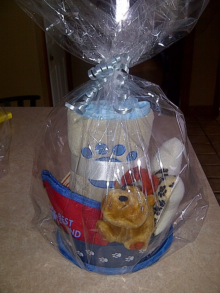 Dog Puppy Welcome Home Gift Basket   Welcome home gifts ...