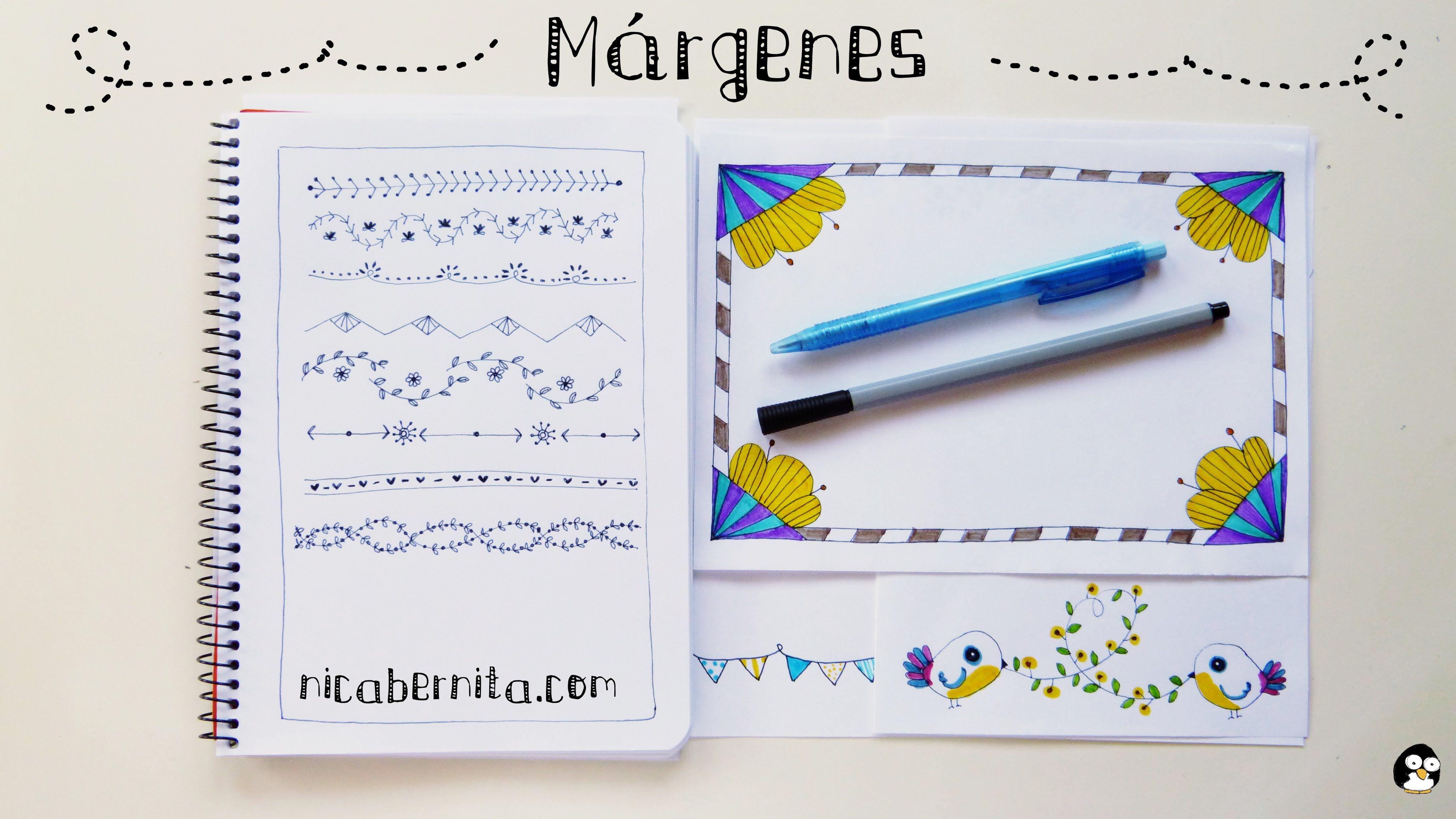 Ideas De MÁrgenes Para Decorar Cuadernos Y Libretas: MÁRGENES Para CUADERNOS Y Bordes Para CARTAS. Ideas Para