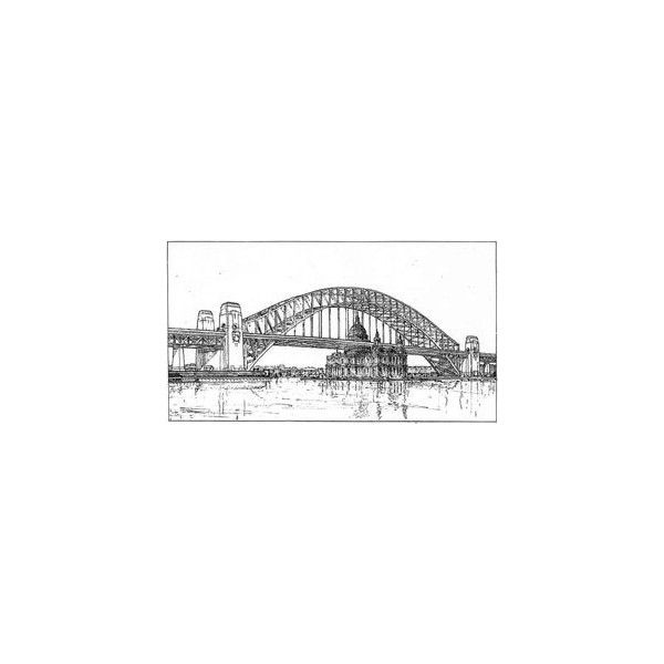 sydney harbour sketch ❤ liked on Polyvore featuring backgrounds and sketches