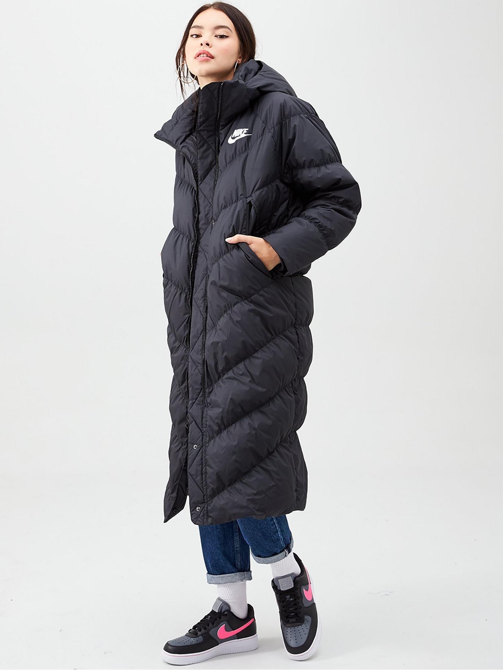 Nike Nsw Down Fill Long Parka Black , Black, Size Xs