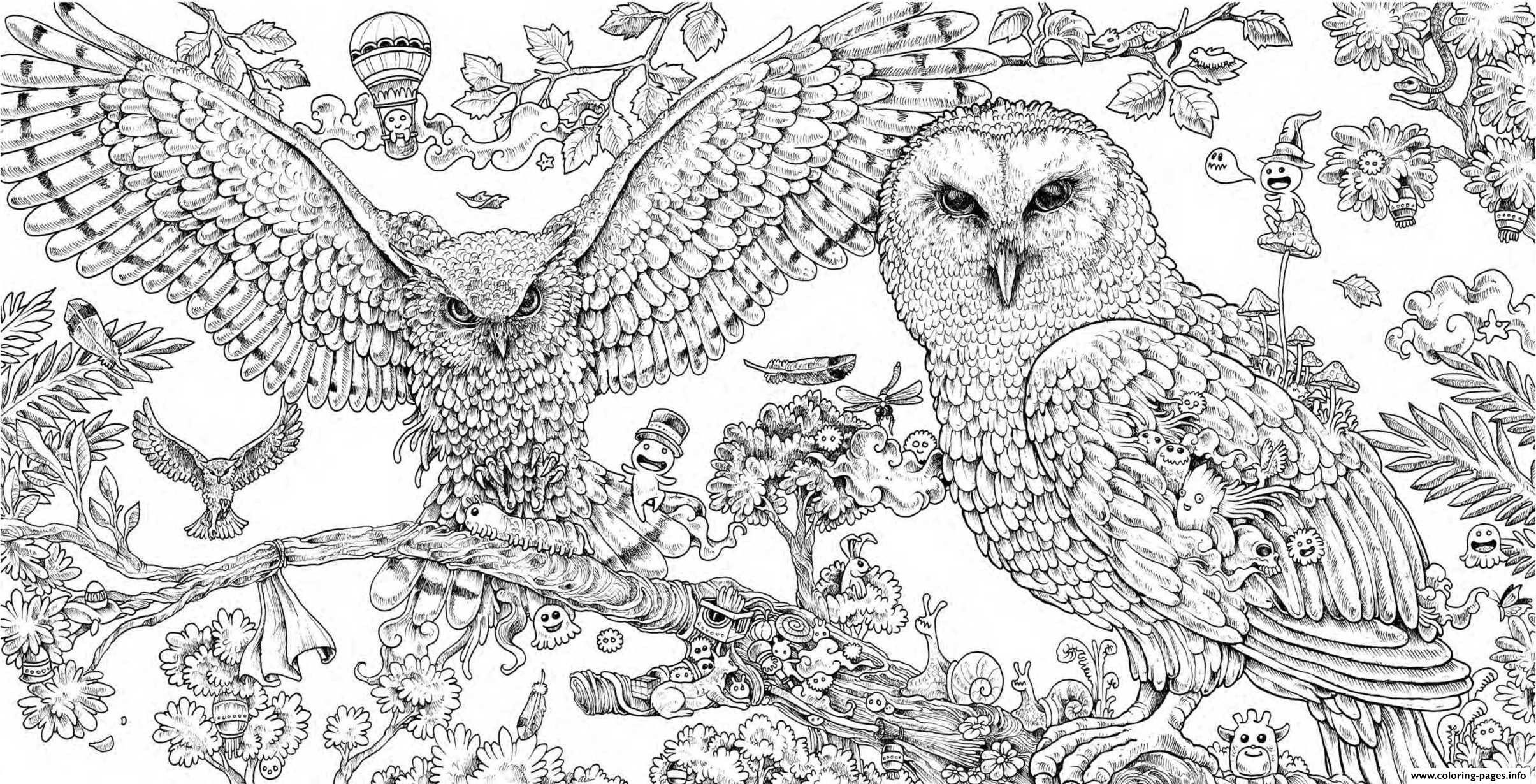 - Coloring Pages Of Animals Hard Animal Coloring Books, Animorphia