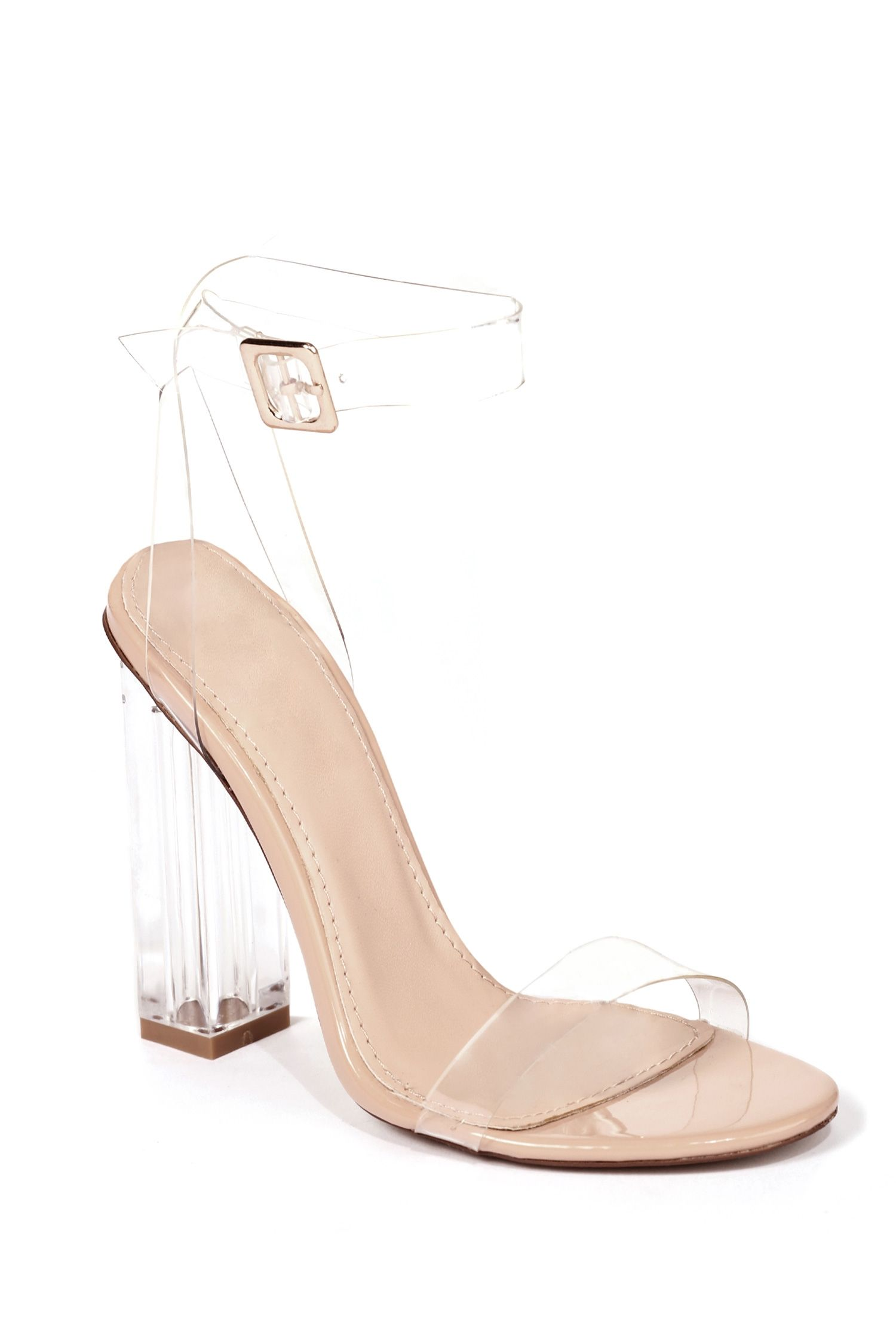 6e31ca9f4 Hot Fire Clear Heels | windsor Clear Strap Heels, Clear Heel Shoes, Clear  High