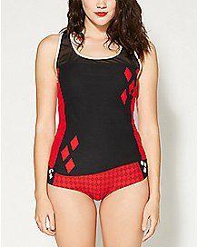8456da90c08d0 Harley Quinn Mesh Tank Pajama Set | Harley Quinn | Harley quinn ...