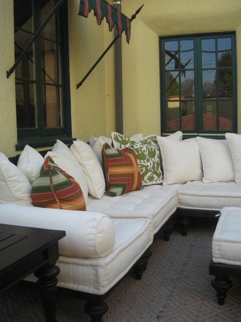 Outdoor Living in LA  Pillows by Empress of The Eye