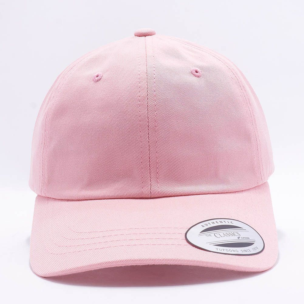 2ae693f2993 Flexfit Yupoong 6245CM Low Profile Cotton Twill (Dad Cap)  Unstructured    Pink