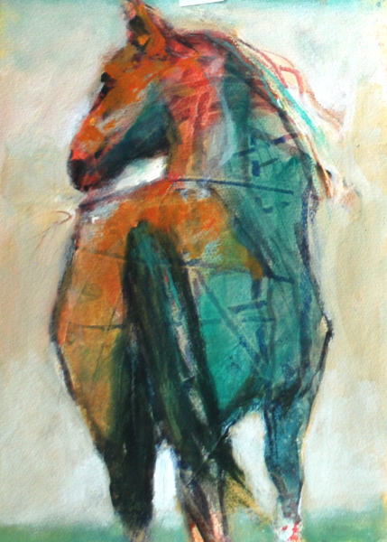 I'm Ready by Susan Easton Burns | dk Gallery | Marietta, GA | SOLD