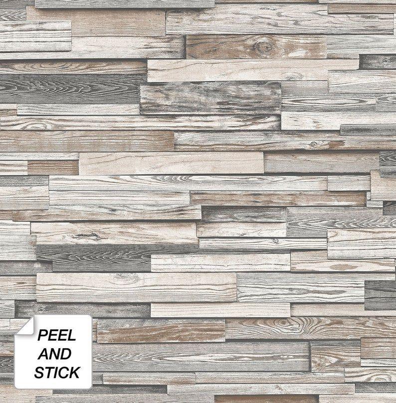 Wallpaper Peel And Stick Wood Peel And Stick Wallpaper Etsy Peel And Stick Wood Peel And Stick Wallpaper Wood Vinyl