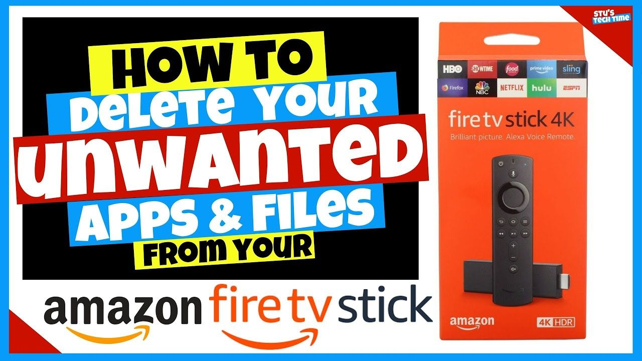 How to delete unwanted apps files on the amazon 4k