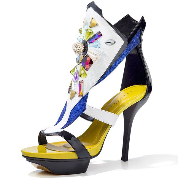 "Neorhythm for Swarovski Elements ""Sparkling Contrasts"" — 'Sparkling Silhouette' #Shoes #Crystal"