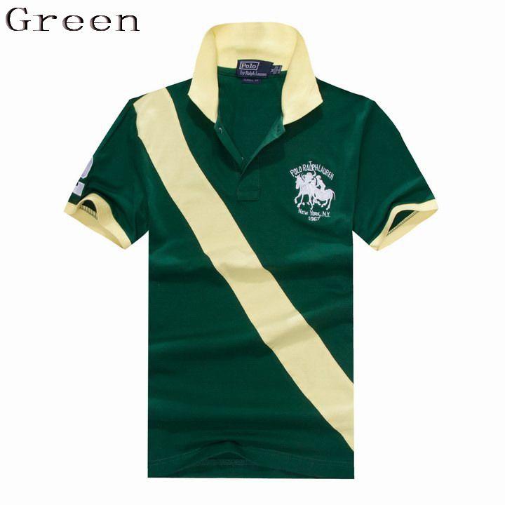 Polo Ralph Lauren Men Custom Fit Sash Dual Match Polo Green