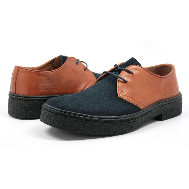 Modello Brodo - 42 EU - Cuero Italiano Hecho A Mano Hombre Piel Marrón Zapatos Vestir Oxfords - Cuero Cuero Pintado a Mano - Encaje 1XRPfWyG