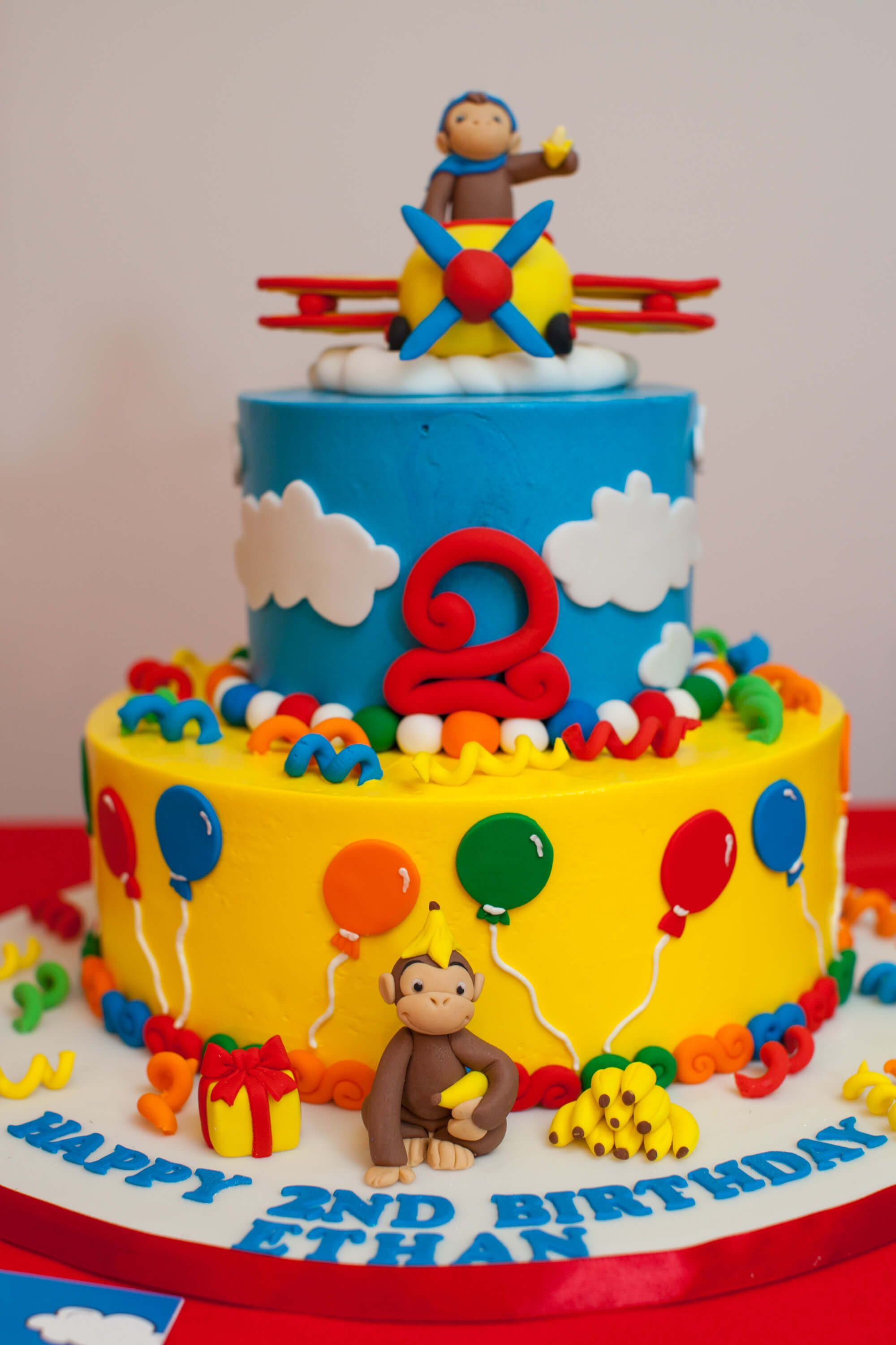 Excellent Curious George Birthday Cake Boy Birthday Cake Curious George Funny Birthday Cards Online Sheoxdamsfinfo