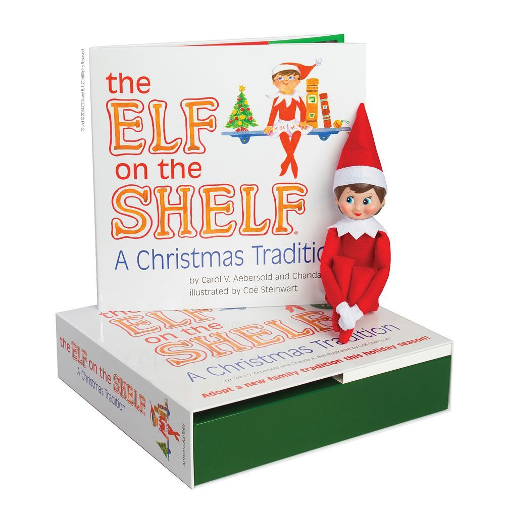 The Elf on the Shelf®: A Christmas Tradition Book & Blue-Eyed Girl Scout Elf, Multicolor