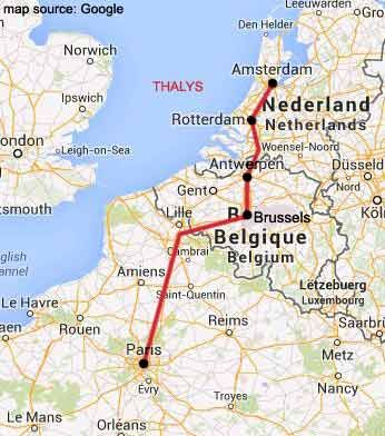 Travel between Amsterdam and Paris by high-speed train, flights ...