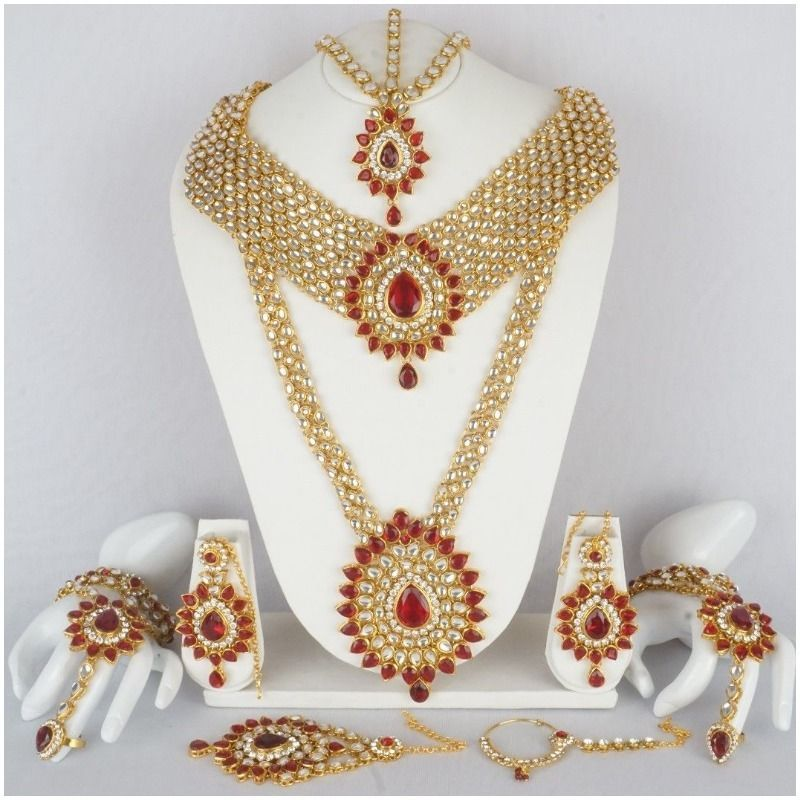 Indian Bridal Necklace Set Bollywood Kundan Bridal Gold Plated